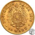 Niemcy Wirttembergia 10 Marek 1876 F st.2