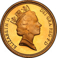 Wielka Brytania 1/2 suweren 1996 Elżbieta II (lustrzanka) st.L