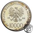Polska 10 000 złotych 1988 X lat Pontyfikatu Jan Paweł II st. L/L-