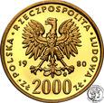 Polska PRL 2000 złotych 1980 Kazimierz I Odnowiciel st. L