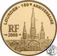 Francja 10 Euro 2008 Lourdes 1/4 uncji złota st.L