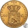 Holandia 10 Guldenów 1897 Wilhelmina st.1