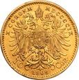 Austria 10 koron 1909 Franciszek Józef I st. 1