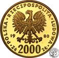 Polska PRL 2000 złotych 1980 Bolesław Chrobry st.L