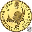 Norwegia 1500 Koron 1994 Oly Lillehammer st.L