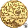 200 złotych 2012 Polska Reprezentacja Olimpijska Londyn 2012 st.L