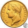 Francja Napoleon I 40 franków 1810 W (Lille) st.3+