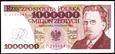 1000000 ZŁOTYCH 1991 ROK SERIA E REYMONT STAN PIERWSZY BANKOWY UNC