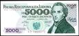 5000 ZŁOTYCH 1982 ROK SERIA AD CHOPIN STAN PIERWSZY BANKOWY UNC