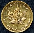 Kanada - 10 $ - Liść Klonu 1987 - 1/4 Oz. Au999