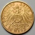 Niemcy - 20 marek Otto 1905 - Bayern