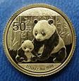 Chiny - 50 yuan - 2012 - Panda 1/10 Oz. Au999