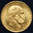 Niemcy - 10 marek 1872 A - Wilhelm, złoto