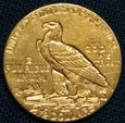 USA - 2,5 dolara 1912 - Indianin, złoto
