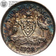 Australia, 3 pensy, 1928, Jerzy V, st. 2-, #22