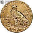 USA, 5 dolarów, Indianin, 1911, st. 3+