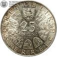 Austria, 25 szylingów, Grillparzer, 1964, st. 1-, #88