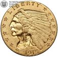 USA, 2,5 dolara 1915, Indianin, złoto