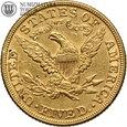 USA, 5 dolarów, 1882 rok, złoto