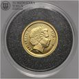 Fiji, 5 dolarów 2006, Wyspa Wielkanocna, złoto