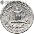 Usa, quarter dollar (25 centów), 1942 S, Washington, st. 3+ #92