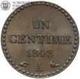 Francja, 1 centime 1848 A, st. 1/1-, #DW