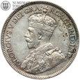 #22. Kanada, 25 Centów, 1929, Jerzy V, st. 3+
