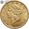 USA, 20 dolarów 1878, S, st. 3/3+