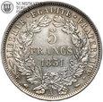 Francja, 5 franków 1851 A, st. 2, #DW