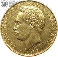 Portugalia, 10000 reis, 1879 rok, złoto