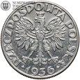 II RP, 5 złotych 1936, Żaglowiec, st. 3+