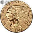 USA, 2,5 dolara 1913, Indianin, złoto