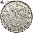 Niemcy, 2 marki 1937 G, Hindenburg, st. 2-, #G5