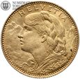 Szwajcaria, 10 franków 1922 B, złoto