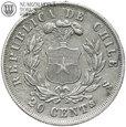 #18. Chile, 20 centavos, 1873, st. 3