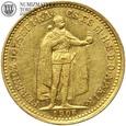 Węgry, 10 koron, 1906 rok, st. 3+, złoto