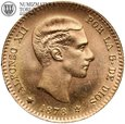 Hiszpania, 10 peset, 1876, złoto