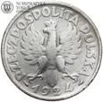 #18. Polska, 1 złoty, 1924 rok, Żniwiarka - Róg i Pochodnia  st. 3-