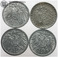 Cesarstwo, zestaw, 4 x 10 pfennig, #L
