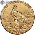 USA, 2,5 dolara 1925 D, Indianin, złoto