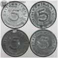 III Rzesza, zestaw, 4 x pfennig, cynk, #L