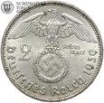 Niemcy, 2 marki 1939 D, Hindenburg, st. 2, #G5