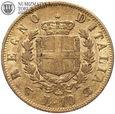 Włochy, 10 lirów 1863, złoto, st. 3/3+