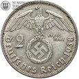 Niemcy, 2 marki 1938 B, Hindenburg, st. 3+, #G5