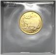 Wyspa Man, 1/25 korony 1989, Kot, złoto, st. L, #G
