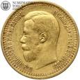 Rosja, 7,5 rubla, 1897 rok, st. 3, złoto