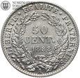 Francja, 50 centimes 1888 A, st. 2+, #DW