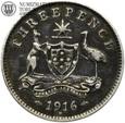 Australia, 3 pensy, 1916, st. 3/3+, #73