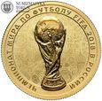 Rosja, 50 rubli 2018, MŚ w piłce nożnej, st. L, złoto