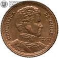 Chile, 1 peso 1953, st. 1, #24